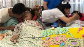 台中紀姓病危婦人回家過生日/光田醫院提供