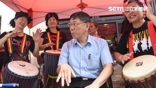 台北市長柯文哲出席復華長青中心開幕。 (圖/記者林敬旻攝)
