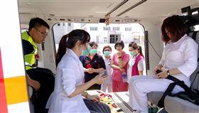 直升機緊急後送 醫護人員隨機訓練