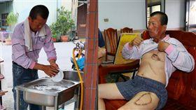 口腔癌父親,嘉義鄉下開麵店不想給兒女造成負擔(陽光基金會提供)