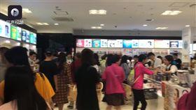 日本,陸客,旅遊團,導遊,免稅店(圖/翻攝自梨視頻)