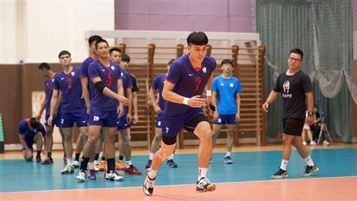 中華男排備戰亞洲盃。(圖/翻攝自中華排協臉書)