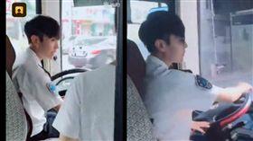 公車司機顏值爆表「激似炎亞綸」(圖/翻攝自梨視頻)
