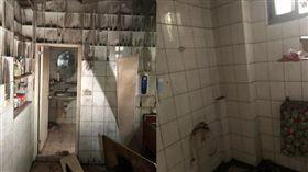 八里,火災,浴室(翻攝畫面)
