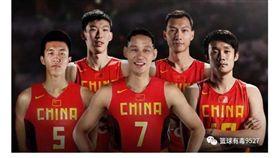 ▲中國網友將林書豪合成穿上男籃球衣。(圖/截自中國媒體)