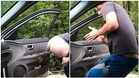 KIKI挑戰爆紅!他開車門跳舞…下秒噴屎 5百萬人驚呆 圖/翻攝自臉書
