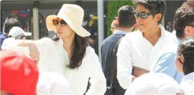 松嶋菜菜子(左)和反町隆史日前被拍到相偕參加小女兒學校運動會。(圖/翻攝自週刊女性)
