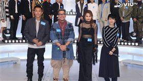 盧凱彤(右)4日擔任評審生前最後公開露面。(圖/翻攝自Viu TV臉書)