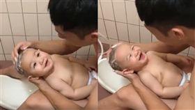嬰兒,洗頭,笑聲,放屁,洗澡(圖/翻攝自爆廢公社)