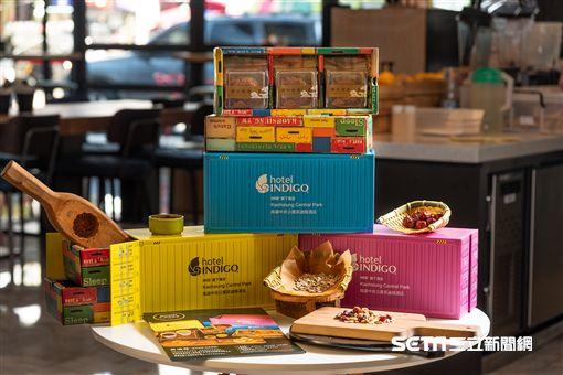 中秋月餅,禮盒包裝。(圖/高雄英迪格飯店提供)