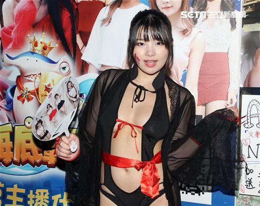 日本AV女優「體操小天后」海空花。(記者邱榮吉/攝影)
