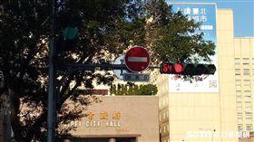 紅燈/紅綠燈示意圖 實習記者汪孟修攝