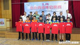 台北青少年桌球公開賽22日開打。(圖/記者劉忠杰攝影)