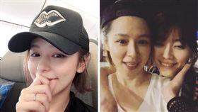 女星徐若瑄(Vivian)上傳跟姐姐搭肩唱歌影片。(翻攝IG)