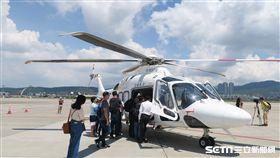 離島救護航空器記者會,離島駐地直升機。(圖/記者盧素梅攝)