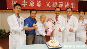 102歲的李老先生罹患攝護腺癌及腎衰竭病況危急,中國醫藥大學附設醫院跨科團隊成功搶救。(圖/中國附醫提供)