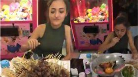嬌小女「食」力驚人!23分鐘狂嗑255支羊肉串 圖/翻攝自youtube