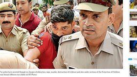 看A片獸性大發 他竟姦殺房東5歲女 印度,姦殺,性侵,Deepak Thakur,兒童性侵害 翻攝自《印度斯坦時報》