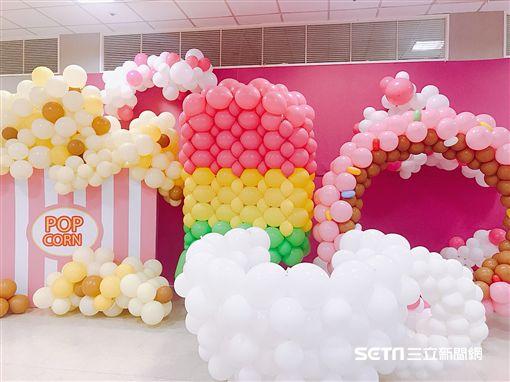 粉紅泡泡展。(圖/記者馮珮汶攝)