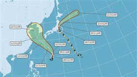 颱風「摩羯」路徑圖。(圖/翻攝氣象局)