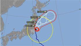 中颱「珊珊」直撲日本,造成日本東部地區約有1800戶斷電,東部及東北部沿海地區還出現10公尺高的巨浪。日本氣象廳表示,因「珊珊」前進速度較慢,恐帶來豪雨及巨浪,提醒民眾要小心防範。(圖/翻攝自日本氣象廳)
