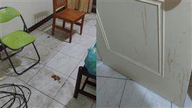 母帶兒租房2年「滿牆油汙」 房東:髒到請兩次清潔公司(圖/翻攝自爆料公社)
