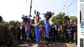 性侵殺害10歲男童! 葉門3戀童癖公開處死…屍體還被吊起示眾(圖/翻攝自The Sun)