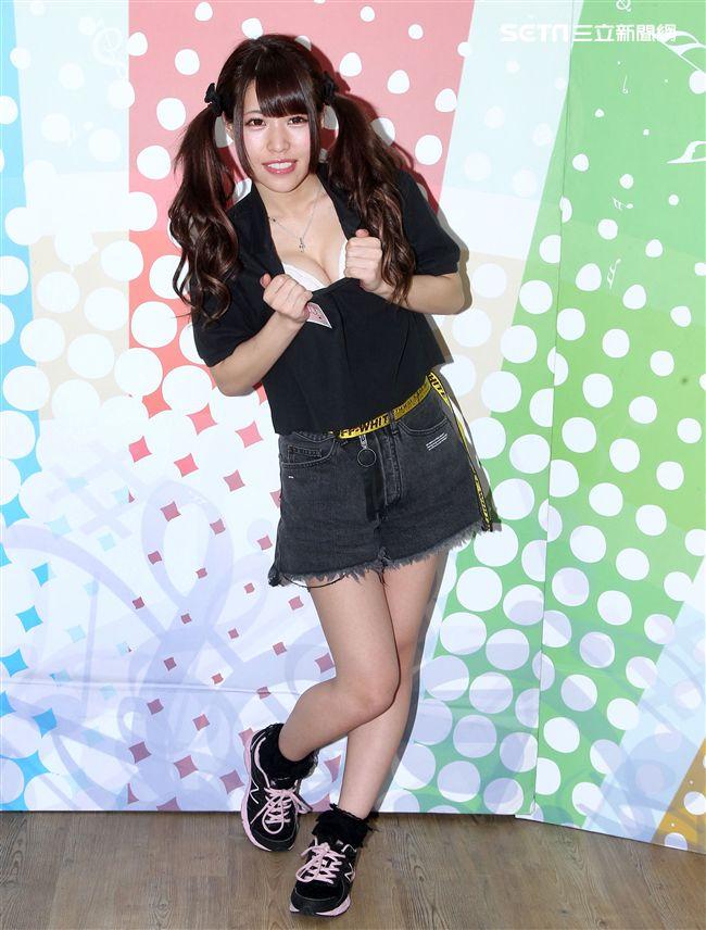日本AV女優「美少女性獸」結真希奈。(記者邱榮吉/攝影)