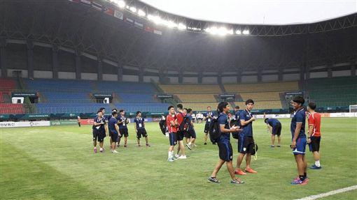 ▲中華男足在印尼備戰亞運首戰。(圖/足球協會提供)