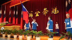 總統蔡英文親自為亞運代表團授旗。(圖/教育部體育暑提供)