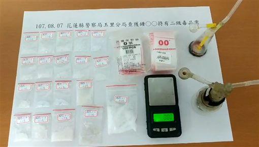 花蓮警逮毒鴛鴦藥頭 查獲安毒19包花連,反毒,販毒,藥頭,安非他命毅哥提供