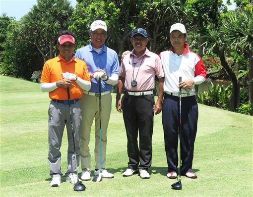 翁永田(左起)、呂文德及詹錦鏜進入延長驟死戰。(圖/TSPGA提供)