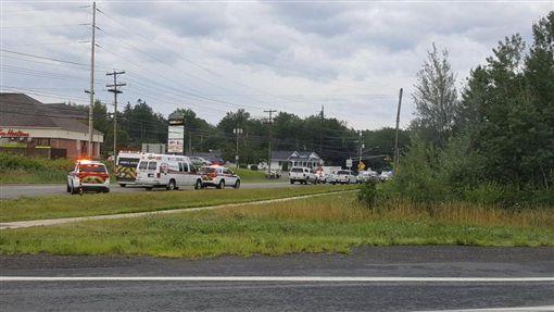 加拿大東部弗瑞德里克頓巿(Fredericton)發生槍擊案,至少4人身亡(圖/翻攝自推特)