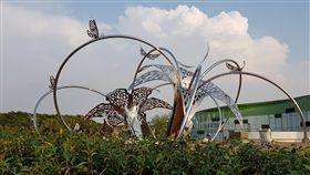 台中花博,外埔園區公共藝術主題為「花漾舞春風、蝶影躍森悠」