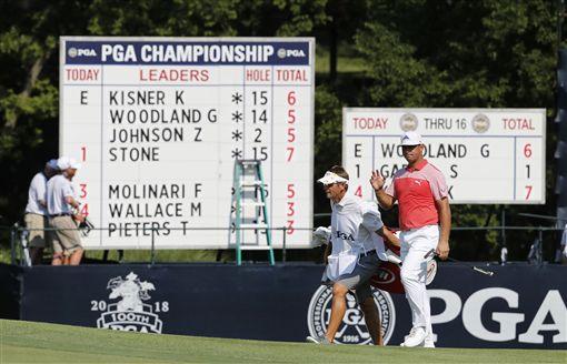 伍德蘭追平PGA前2回合最低桿紀錄。(圖/美聯社/達志影像)
