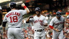 ▲波士頓紅襪游擊手Xander Bogaerts擊出今年第17號全壘打。(圖/美聯社/達志影像)
