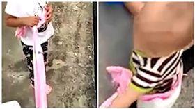 中國大陸一名女與丈夫吵架後情緒失控,帶著一對兒女上26樓準備跳樓(圖/翻攝自《澎湃新聞》)