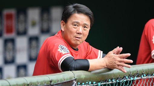 中華職棒明星賽紅隊總教練洪一中。 (圖/記者林敬旻攝)