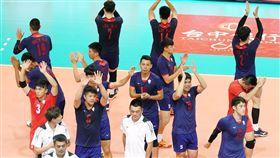 中華力戰5局後擊敗泰國隊。(圖/中華排協提供)