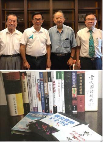 前總統陳水扁10日上午與《被出賣的台灣》中譯者陳榮成博士見面。(圖/翻攝臉書)
