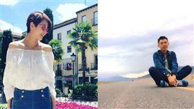 追隨梁詠琪20年的新疆鐵粉可樂(右)罹癌過世。(圖/翻攝馬超微博)