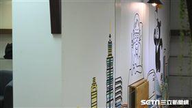 柯文哲KPteam辦公室內裝外觀。 (圖/記者林敬旻攝)