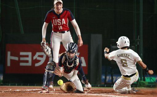 擊敗日本後,美國率先取得東京奧運參賽權。(圖/翻攝自WBSC官網)