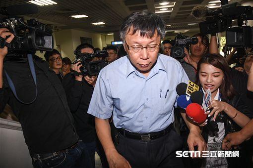 台北市長柯文哲回應台北醫院大火。 (圖/記者林敬旻攝)