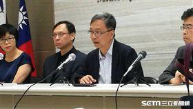 衛生福利部常務次長薛瑞元說明台北醫院傷患傷亡情形。(圖/記者楊晴雯攝)