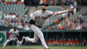 ▲波士頓紅襪左投Chris Sale飆出12次三振只用68球。(圖/美聯社/達志影像)
