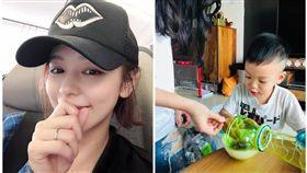 徐若瑄在臉書貼出繼女跟兒子相處照片。(翻攝臉書)