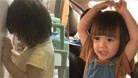 小女孩就這樣站著睡著(左),阿姨把她正面照(右)PO出來後網友暴動 (圖/翻攝自爆廢公社)