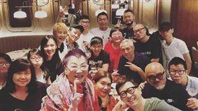 張小燕,曾馨瑩,庾澄慶,黃子佼,生日會(Instagram)