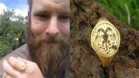 他在田裡挖到「汽水拉環」 竟是價值40萬金戒指(圖/翻攝自BBC)